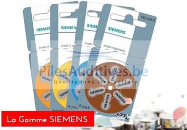 la gamme de piles auditives Siemens au meilleur prix